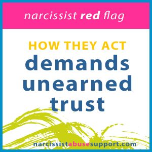Demands unearned trust