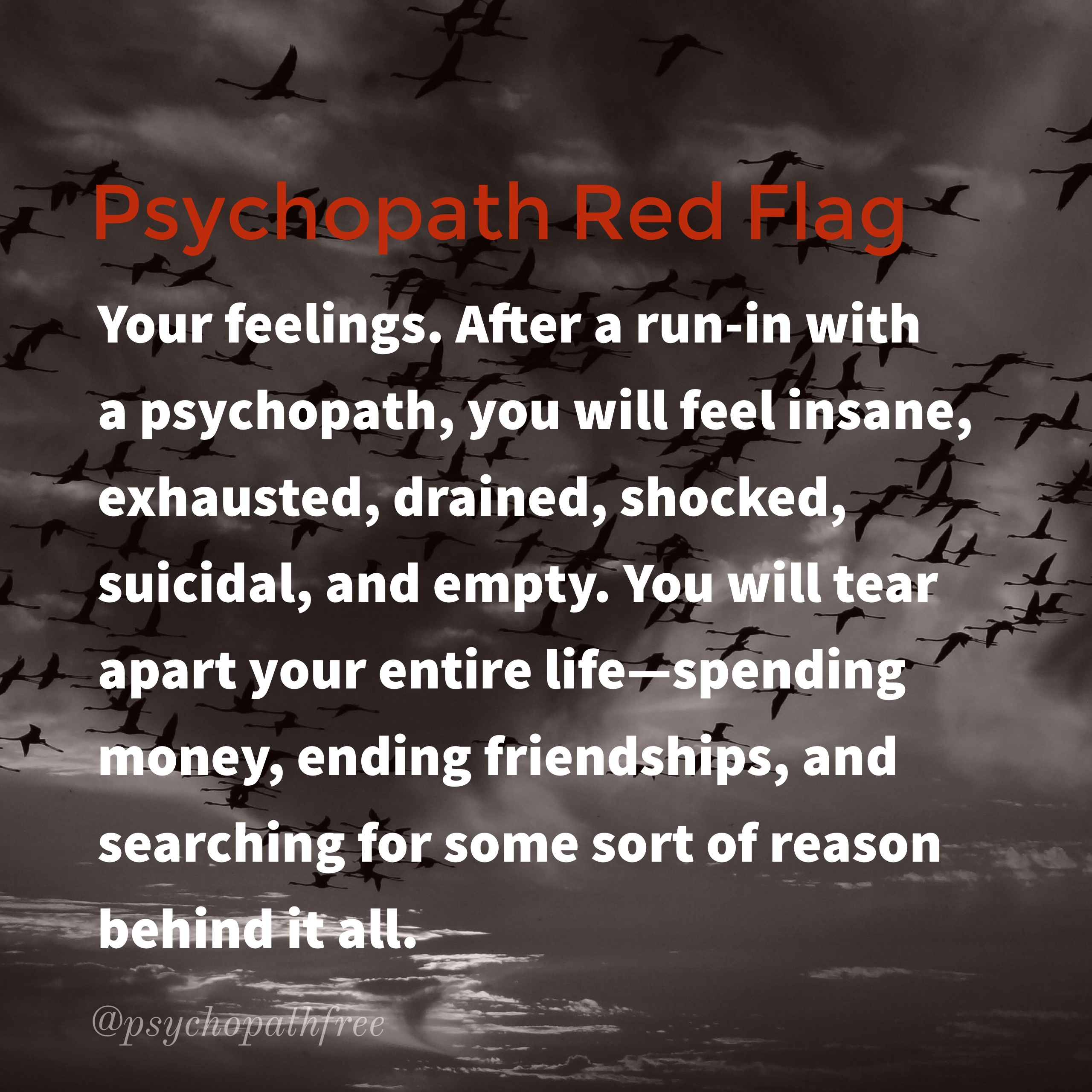 Narcissist and psychopath