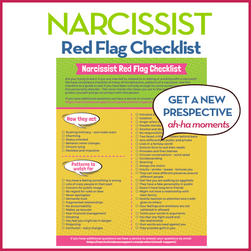 Narcissist red flags