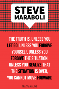 Steve Maraboli: The truth is, unless you let go, unless you forgive yourself, unless you forgive the situation, unless you realize that the situation is over, you cannot move forward.