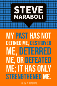 Steve Mariboli: My past has not defined me, destroyed me, deterred me, or defeated me; It has only strengthened me.