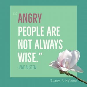 """Angry people are not always wise."" - Jane Austen"