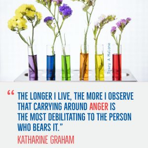 """""""The longer I live, the more I observe that carrying around Anger is the most debilitating to the person who bears it."""" - Katharine Graham"""