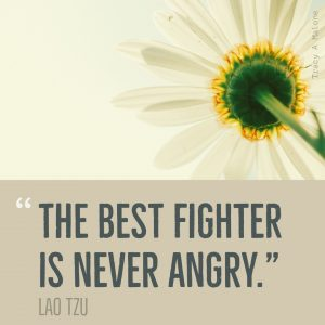"""The best fighter is never Angry."" -Lao Tzu"
