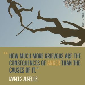 """How much more grievous are the consequences of Anger than the causes of it."" -Marcus Aurelius"