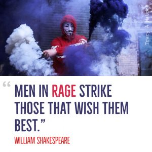 """Men in rage strike those that wish them the best."" -William Shakespeare"