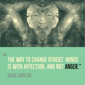 """The way to change others' minds is with affection, and not Anger."" -Dalai Lama XIV"