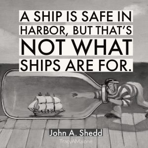 A ship is safe in harbor, but that's not what ships are for. - John A. Shedd