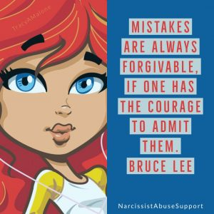 """Mistakes are always forgivable. If one has the courage to admit them."" - Bruce Lee"