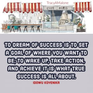 To dream of success is to set a goal of where you want to be; to wake up, take action, and achieve it is what true success is all about. - Idowu Koyenika