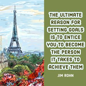 The ultimate reason for setting goals is to entice you to become the person it takes to achieve them. - Jim Rohn