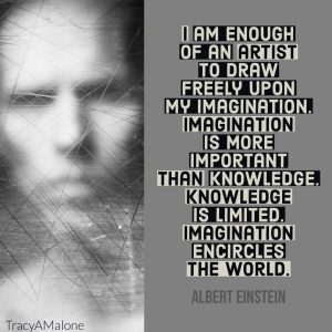I am enough of an artist to draw freely upon my imagination. Imagination is more important that knowledge. Knowledge is limited. Imagination encircles the world. - Albert Einstein