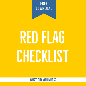 red flag of narcissist abuse checklist