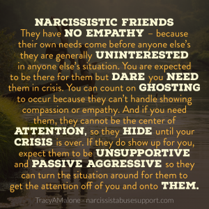 Traits narcissistic friends How to