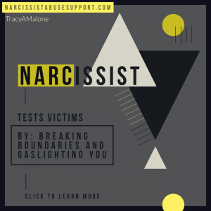 Narcissist Tests Victims - By: Breaking boundaries and gaslighting you. NarcissistAbuseSupport.com